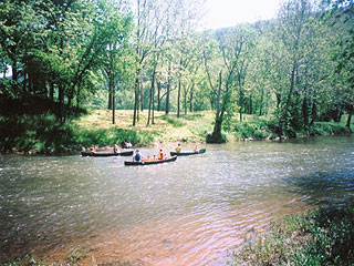 HIKE, BIKE, RIDE TO RIVER FOR FISHING AND CANOEING TRIPS