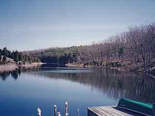 WALK TO 1/3 MI.-LONG LAKE TO FISH, SWIM, CANOE